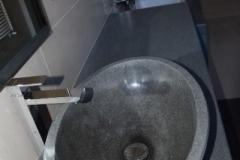 Top bagno e lavabo monolitico in Pietra Lavica dell'Etna - Copia